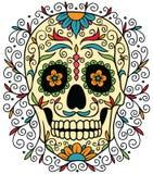 Cráneo mexicano del azúcar Fotos de archivo