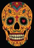 Cráneo mexicano del azúcar Imagenes de archivo