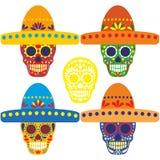 Cráneo mexicano del azúcar Foto de archivo