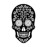 Cráneo mexicano del azúcar Imágenes de archivo libres de regalías
