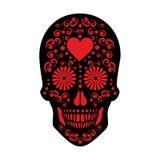Cráneo mexicano del azúcar Fotos de archivo libres de regalías