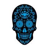 Cráneo mexicano del azúcar Fotografía de archivo