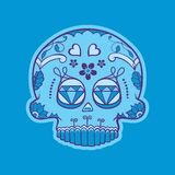 Cráneo mexicano del día de muertos ilustración del vector