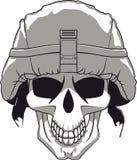 Cráneo militar Fotos de archivo libres de regalías