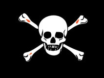 Cráneo - muerte-pista Imagen de archivo