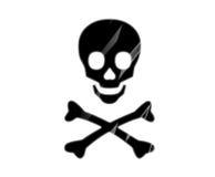Cráneo peligroso imagen de archivo libre de regalías