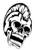 Cráneo punky stock de ilustración