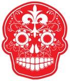 Cráneo rojo del azúcar del vector Imagen de archivo libre de regalías