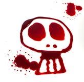 Cráneo sangriento Imágenes de archivo libres de regalías
