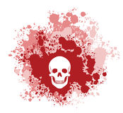 Cráneo sangriento stock de ilustración