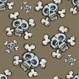 Cráneo y azulejo inconsútil de los Crossbones libre illustration