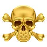 Cráneo y bandera pirata Imagen de archivo