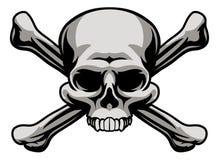 Cráneo y bandera pirata Fotografía de archivo libre de regalías