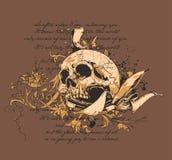 Cráneo y cuchillo   stock de ilustración