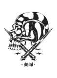 Cráneo y daga cruzada Fotografía de archivo