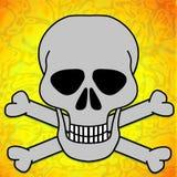 Cráneo y huesos stock de ilustración