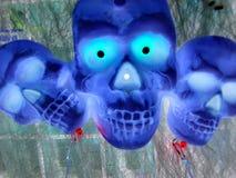 Cráneos 2, negativos Fotos de archivo libres de regalías