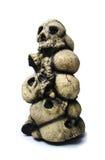 Cráneos aislados de Víspera de Todos los Santos Foto de archivo libre de regalías