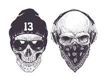 Cráneos de Dotwork Fotografía de archivo libre de regalías