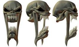cráneos de la fantasía 3D Fotos de archivo libres de regalías