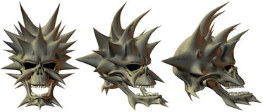 cráneos de la fantasía 3D Foto de archivo