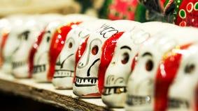 Cráneos del azúcar con la palabra México Fotografía de archivo
