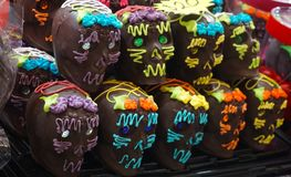 Cráneos del chocolate Foto de archivo libre de regalías