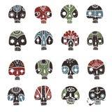Cráneos fijados Foto de archivo