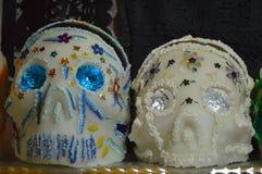 Cráneos mexicanos del azúcar Foto de archivo libre de regalías