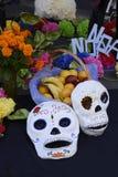 Cráneos pintados Fotos de archivo libres de regalías