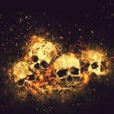 Cráneos y huesos foto de archivo libre de regalías