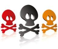 Cráneos y huesos de la cruz Imagen de archivo
