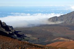 Cráter 11 de Haleakala fotografía de archivo