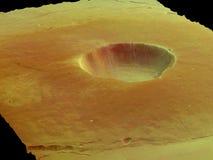 Cráter Fotografía de archivo