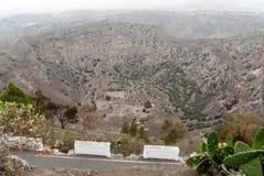 Cráter de Bandama Imágenes de archivo libres de regalías