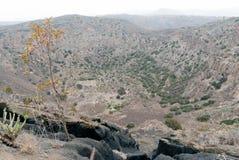 Cráter de Bandama Foto de archivo libre de regalías