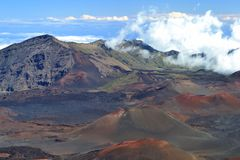 Cráter de Haleakala foto de archivo