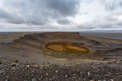 Cráter de Hrossaborg en Islandia Imagen de archivo