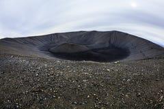 Cráter de Hverfjall Foto de archivo