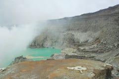 Cráter de Kawah Ijen - East Java Fotos de archivo libres de regalías