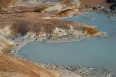 Cráter de Leirhnjukur imagen de archivo