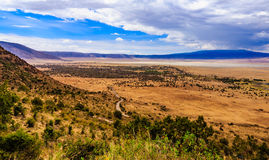 Cráter de Ngorongoro en Tanzania Fotografía de archivo libre de regalías