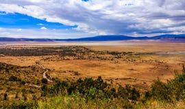 Cráter de Ngorongoro en Tanzania Fotos de archivo