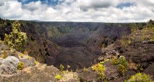 Cráter de Pauahi Imagenes de archivo