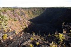 Cráter de Pauahi Imagen de archivo