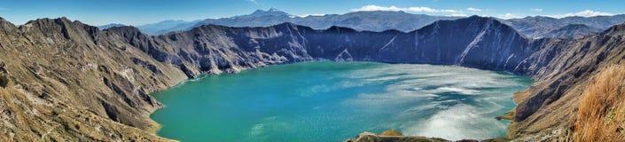 Cráter de Quilotoa, Ecuador Fotos de archivo libres de regalías