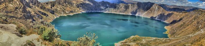 Cráter de Quilotoa, Ecuador Imagenes de archivo
