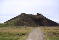 Cráter de Saxholl Imagen de archivo