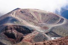 Cráter de Silvestri del volcán de Enta fotografía de archivo libre de regalías