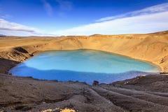 Cráter de Stora-Viti Imagenes de archivo